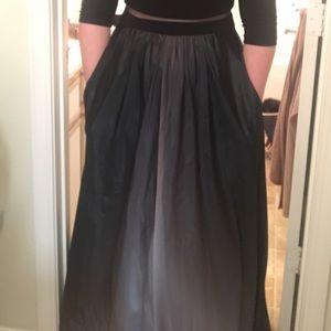 Formal Dip-Dyed Satin Dress